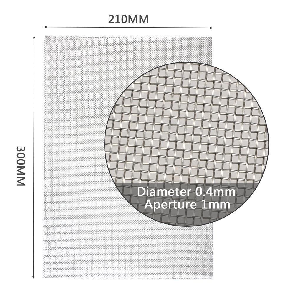 TIMESETL 3er Edelstrahl Filternetz 30x21cm Maschendraht Nagetier mit ...