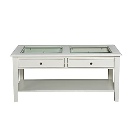 Amazon Com Panorama Cocktail Table Open Display Glass Top W