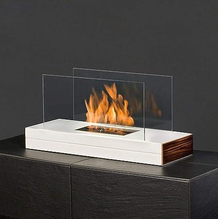 muenkel Design LLanura De Fuego Etanol chimenea mesa: blanco ...