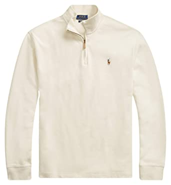 c4864c8e7 Ralph Lauren Polo Men s Estate-Rib Cotton Mock Neck Half Zip Pullover  Sweater at Amazon Men s Clothing store