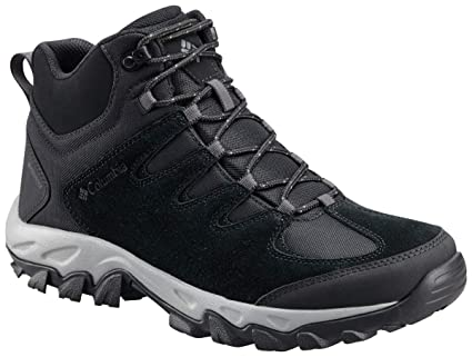 Columbia Men's Buxton Peak MID Waterproof Wide Hiking Boot, Black, lux, 10 US