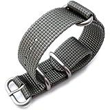 Bracelet NATO 20A20BZZ00N3H03(FR)–Sangle de nylon, couleur gris (20)