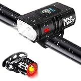 Juego de Luces para bicicleta, Vagalbox Lámpara de bicicleta de 1000 lúmenes recargable mediante USB, Lámparas delanteras y t