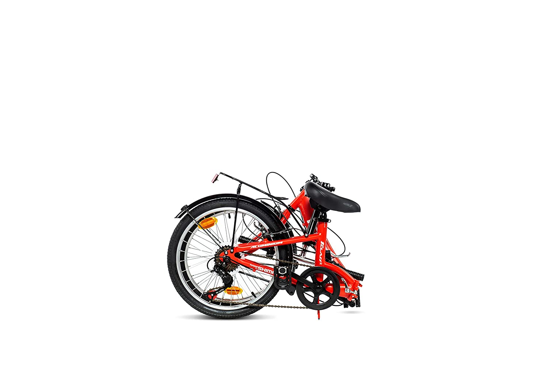Moma Bikes First Class 2 RJ Bicicleta Plegable Urbana, 6V. Sillin Confort, Unisex Adulto, Rojo, Talla Única: Amazon.es: Deportes y aire libre