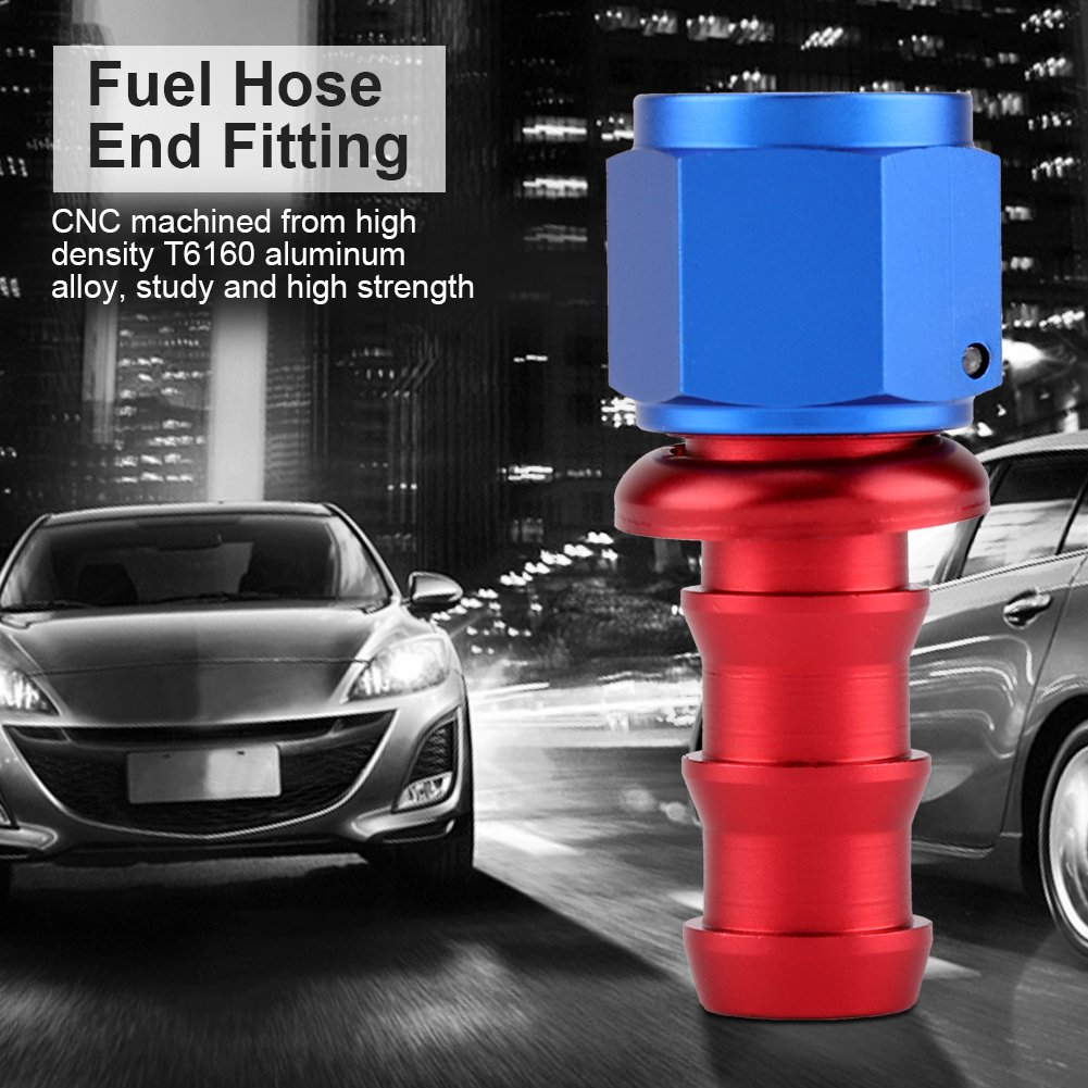 Aluminum Alloy Male Flare AN6 To 1//2 NPT Straight Fuel Oil Fitting Adapter Qii lu Fitting Adapter
