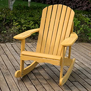 leisure zone rocking adirondack chair wooden rocking armchair
