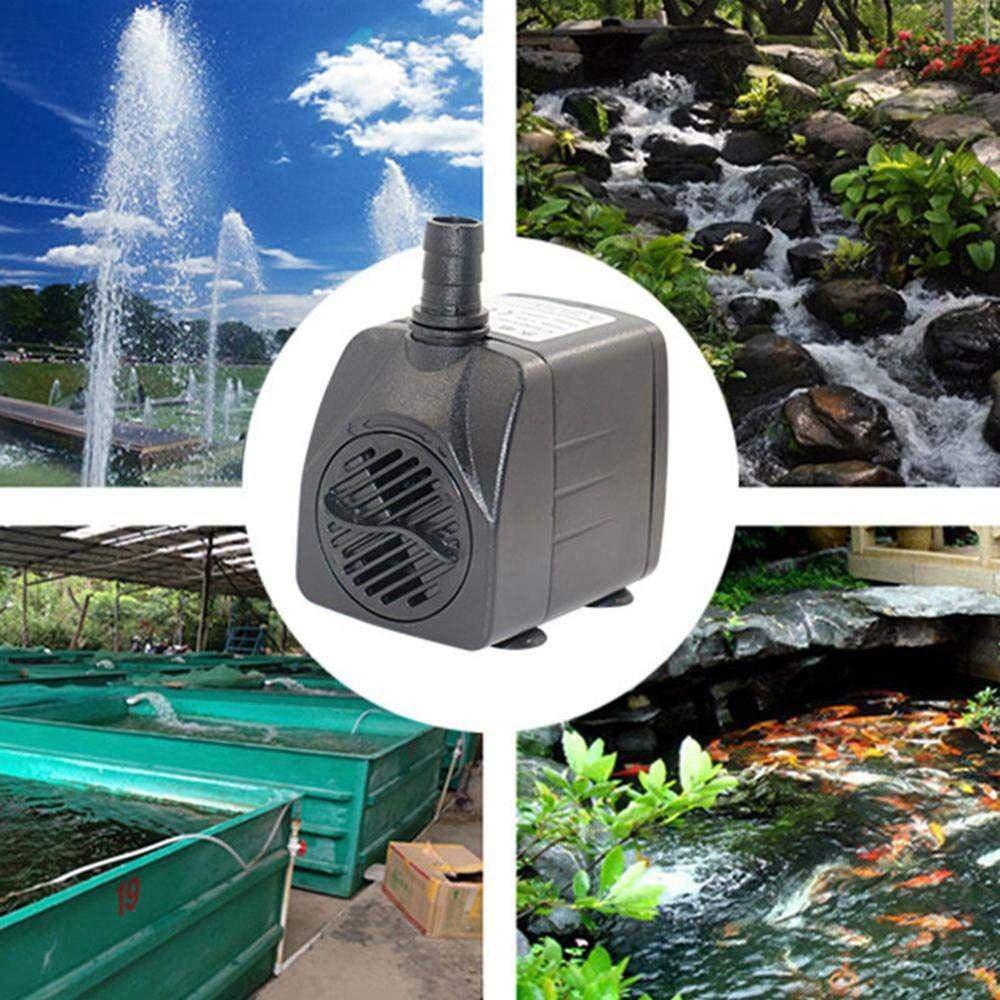 210 GPH Pompa di Acqua sommergibile per acquari con LED a 12 LED Colorati e 2 ugelli 800L // H, 15W Pompa per acquari vaschette per Pesci di Stagno AUOKER Pompa sommergibile per Fontana