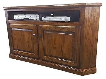 Amazon Com American Heartland 46744lt Oak Corner Tv Stand Light