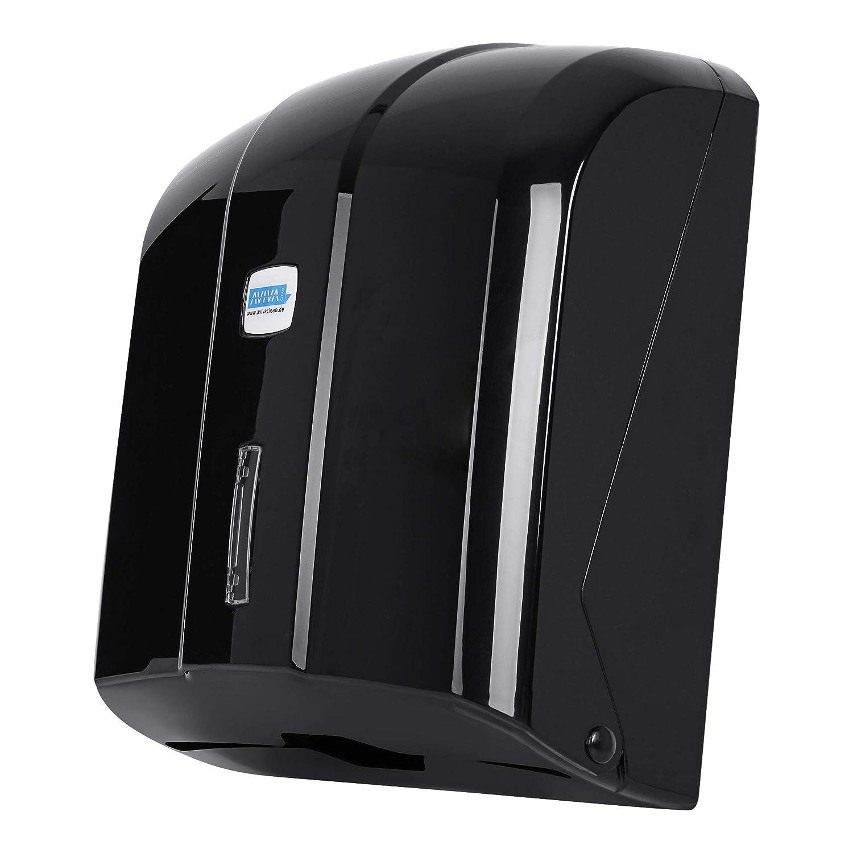 Dispensador de toallas de papel Aviva Clean, en negro, 300 hojas, de alta calidad, también adecuado para prácticas: Amazon.es: Industria, empresas y ciencia