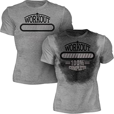 c61a044e Amazon.com: Sweat Activated Shirt | Funny Workout Motivational Tee | Workout  Complete: Clothing
