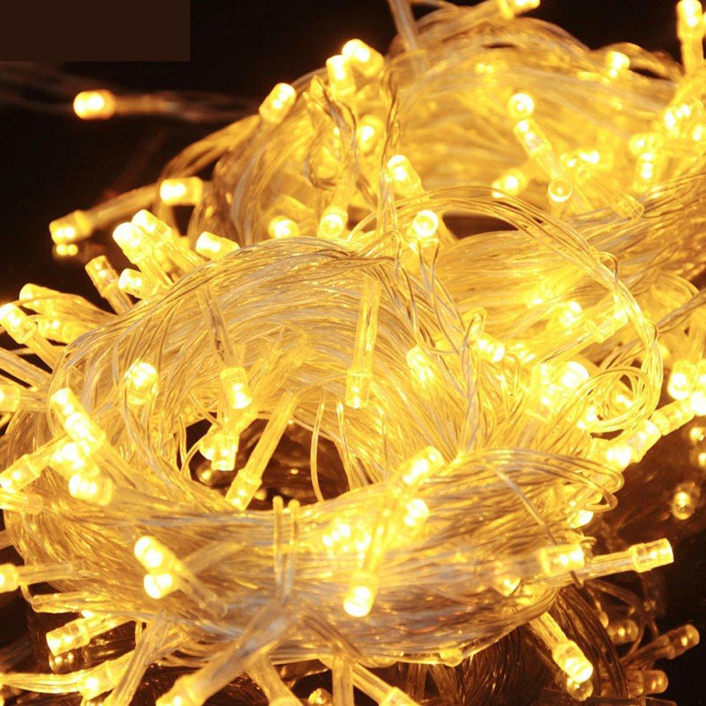 HJ/® 200 LEDs 20M Warmwei/ß LED Lichterkette Weihnachtslichterkette Dekolichterkette Mischenfarbe ideal f/ür Party Garten Schaufenster Hochzeiten Weihnachten Tannenbaum