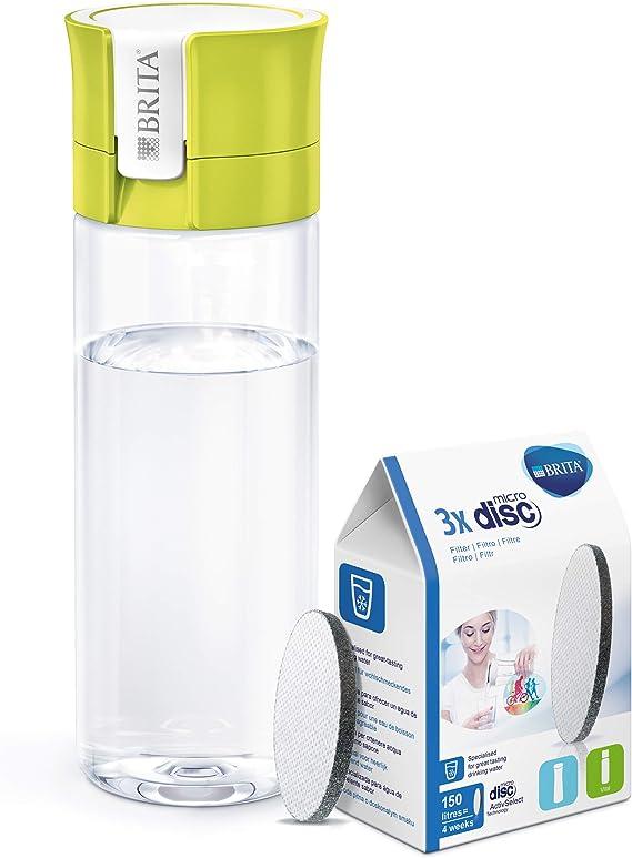 BRITA Fill&Go - Botella de agua de 0,6 l con filtro MICRODISC ...
