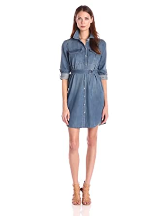 Jessica Simpson Women's Emerson Shirt Dress, Galena, Large