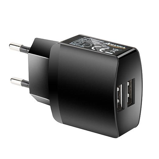 16 opinioni per AMANKA Caricatore USB da Muro a 2 Porte (5V/2A), con Output Massima fino a 2A,