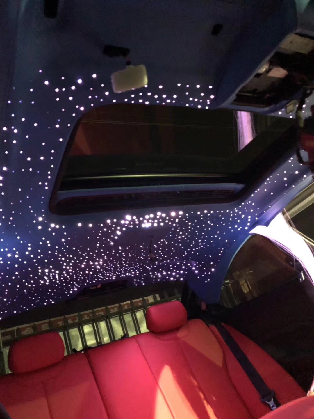 10W Car Use Fiber Optic Light Star Ceiling Kit Twinkle, LED RGBW Engine Driver with 28key RF Remote Control 0.03in/0.75mm 6.5ft/2m 200 Strands