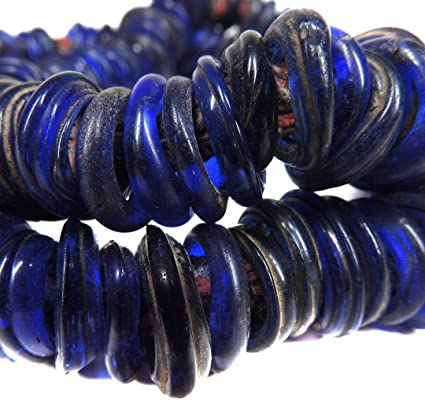 Dutch Donuts Trade Beads Wound Annular Mixed African 122182