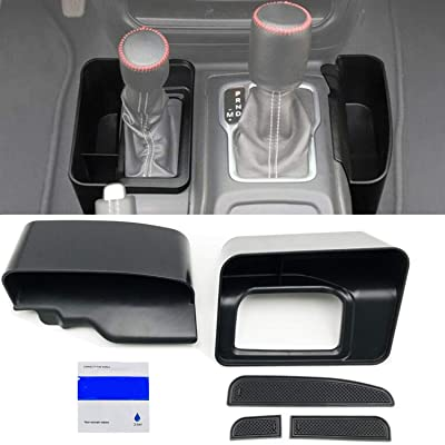 JOJOMARK for Jeep Wrangler JL and JLU Accessories 2020 2020 2020 & 2020 Jeep Gladiator JT Gear Shifter Console Side Storage Box Auto Transmission Organizer Tray: Automotive