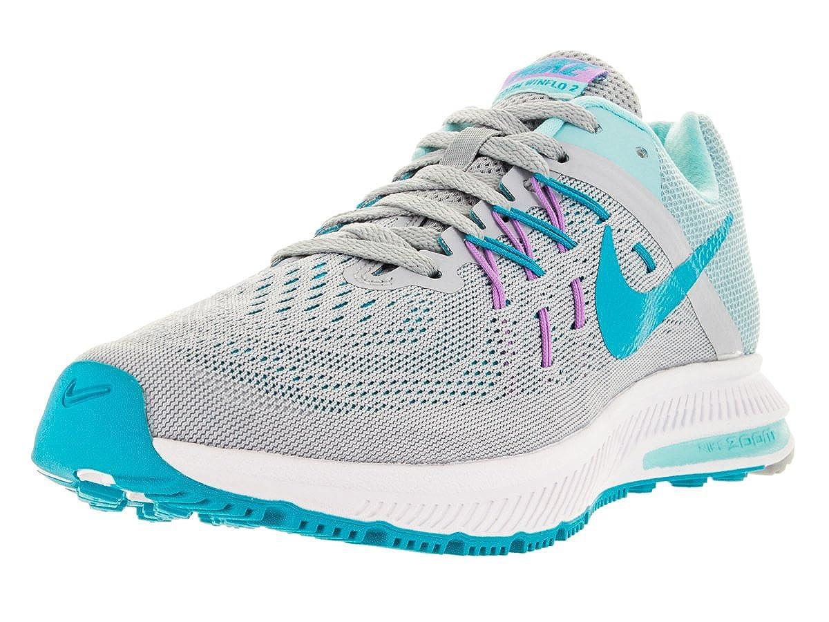 8a41f998231cd Nike Women s Zoom Winflo 2 Wolf Grey Bl Lgn Cp FCHS GLW Running Shoe 9 Women  US  Amazon.in  Shoes   Handbags