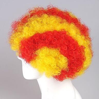 De la bandera de España BARCELONA peluca catalana Afro de la ...