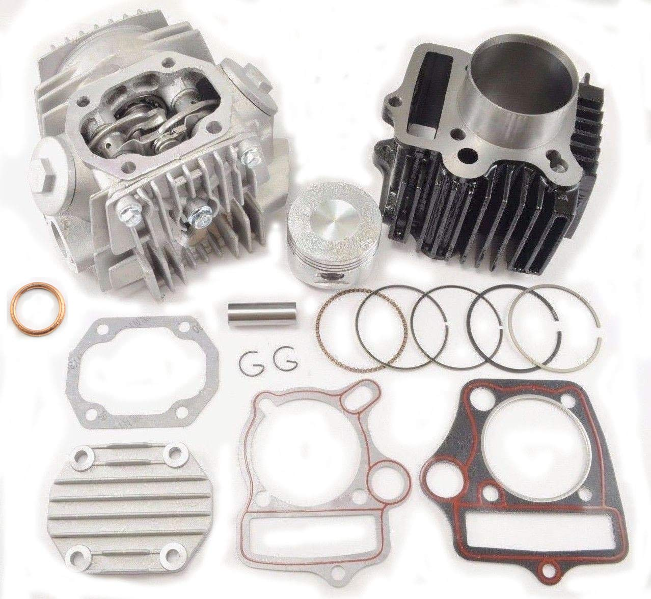 CYLINDER and Head KIT 1P52FMH (52.4mm) Compatible with 110CC ROKETA TAOTAO SSR ATV DIRT BIKE QUAD Jonway by WhatApart