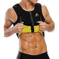 NINGMI Heren afslankvest Hot Sweaty Buik Body Shaper Taille Trainer Vest Neopreen Sauna Workout Shirt voor…