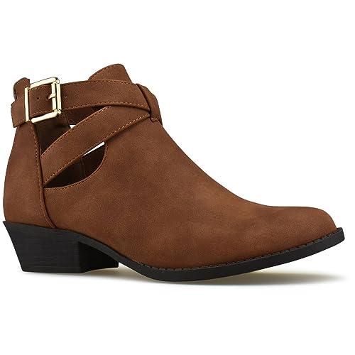 35bc1629cb5 Amazon.com | Premier Standard - Women's Strappy Buckle Closed Toe ...