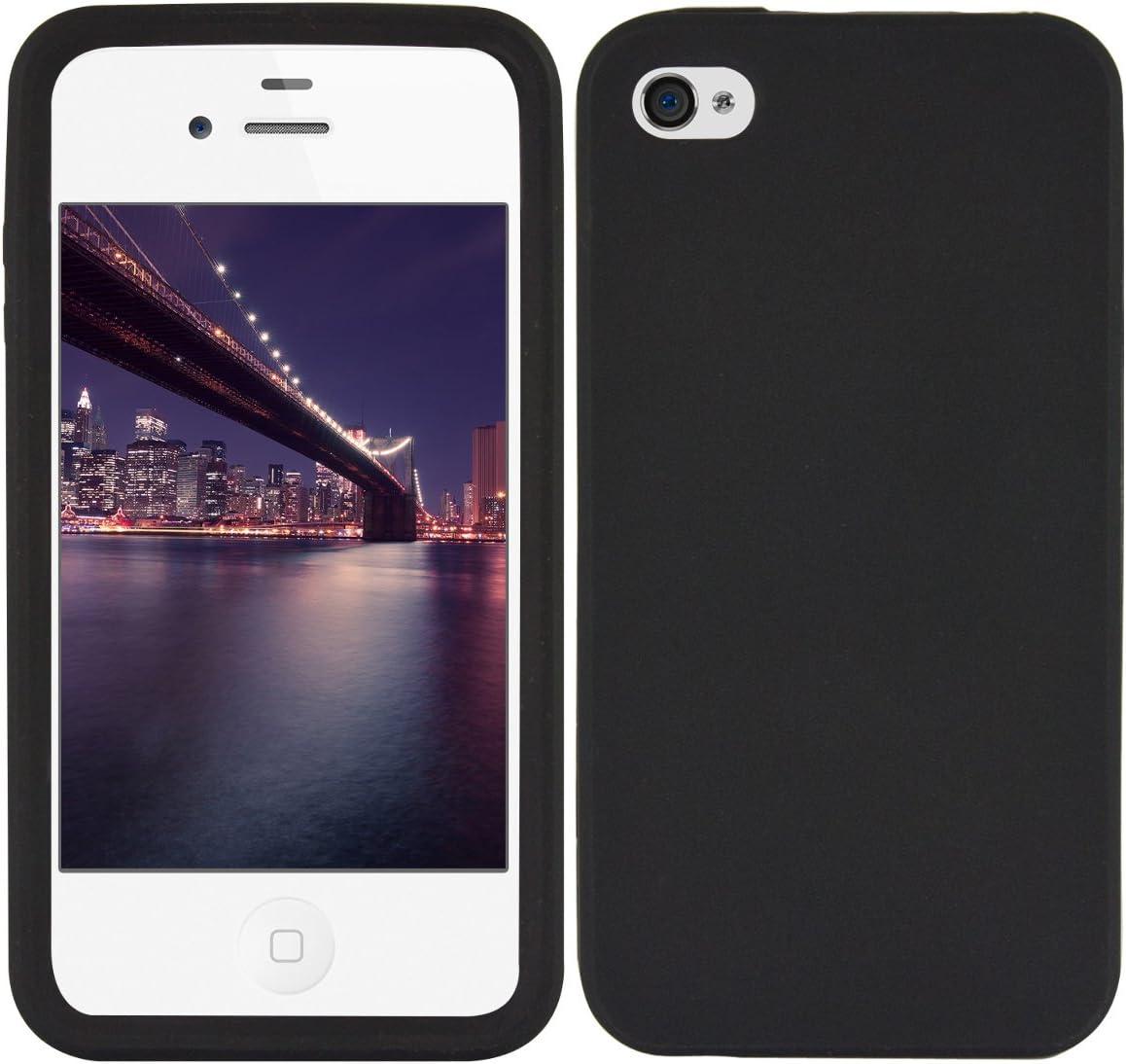 Kwmobile Hülle Kompatibel Mit Apple Iphone 4 4s Handyhülle Handy Case In Schwarz Elektronik