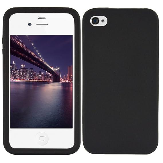 kwmobile Apple iPhone 4 / 4S Hülle - Handy Case für Apple iPhone 4 / 4S - Handyhülle in Schwarz