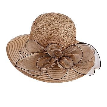 MKHDD Sombrero Protector Solar Plegable De La Playa De Las Mujeres del Verano Sombrero Al Aire