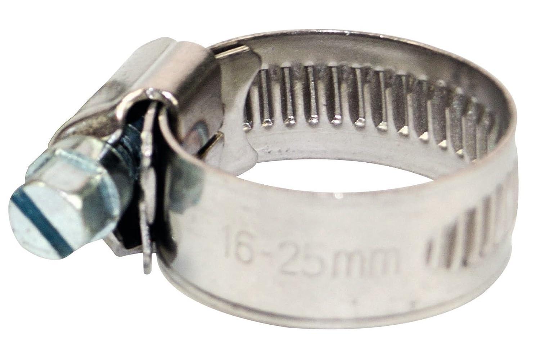 Schlauchschellen Schlauchklemme Edelstahl VA W4 Schlauchbinder 12mm 10-16mm 50 St/ück
