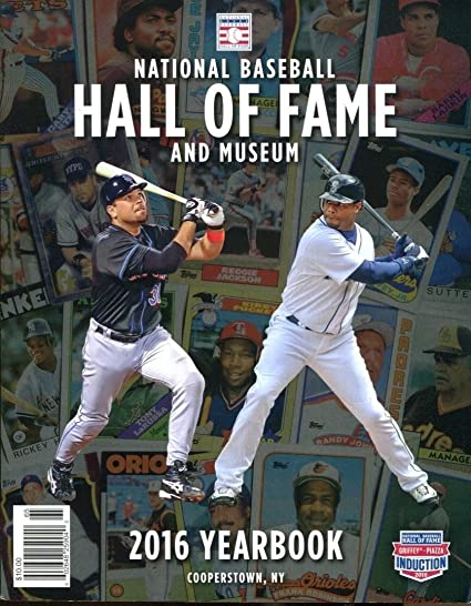 5f70d3bc7f Image Unavailable. Image not available for. Color: 2016 Baseball Hall of  Fame Museum Yearbook Mike Piazza Ken Griffey Jr. 40468b1