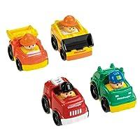 Fisher Price - V1625 - Véhicule Miniature - Pack de 4 Véhicules Wheelies Little People - Thème Classique