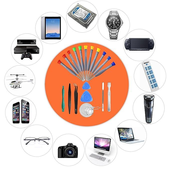 Amazon.com: 21pcs Conjunto de Destornillador Magnético de ...