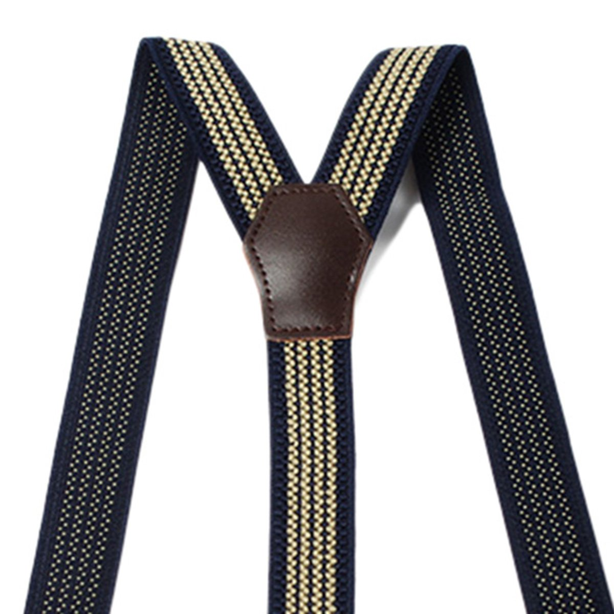 Men Vintage Buttonhole Suspenders Women Adjustable Elastic Trousers Braces