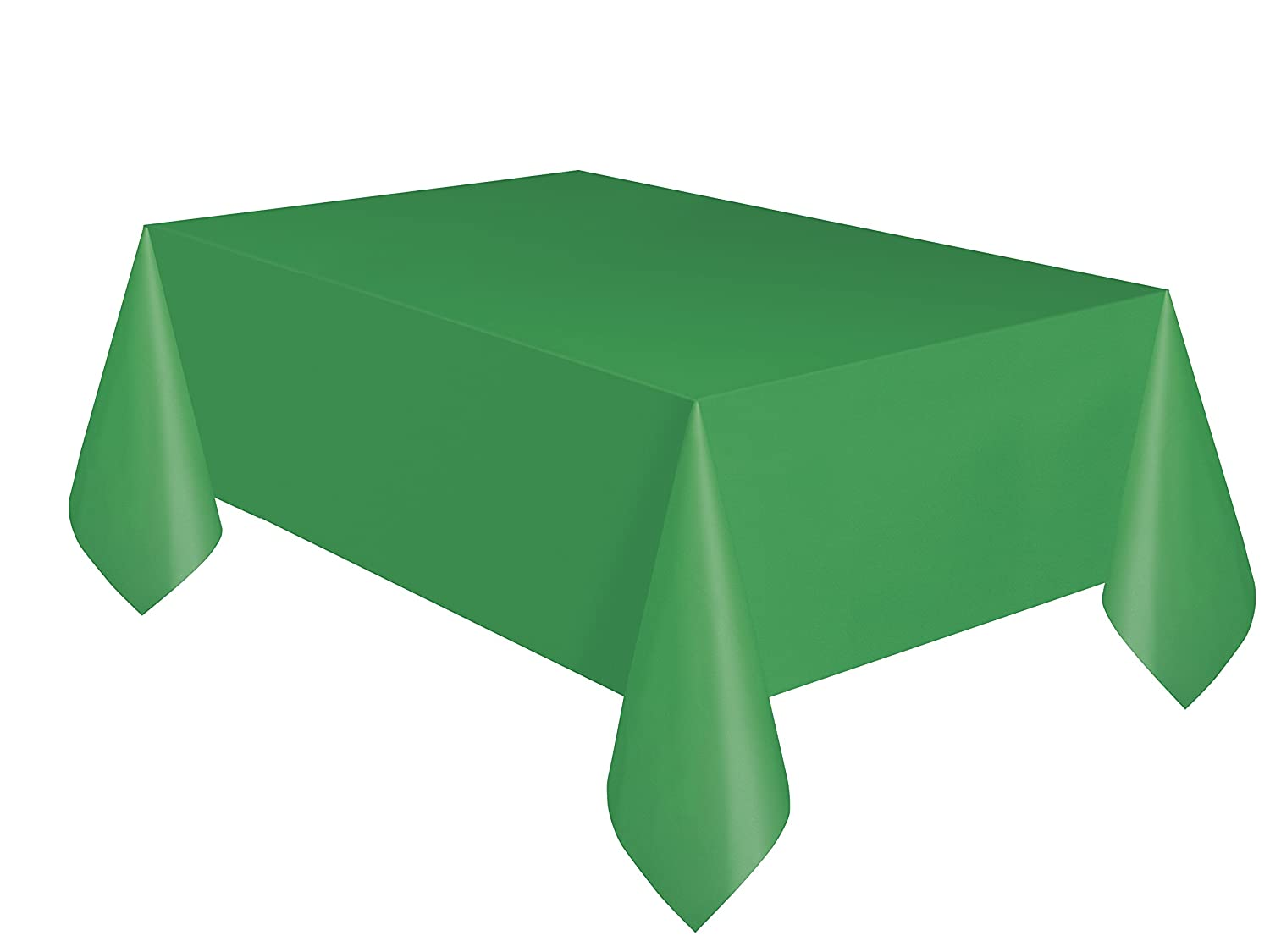 Unique Party 5091 - Emerald Green Plastic Tablecloth, 9ft x 4.5ft