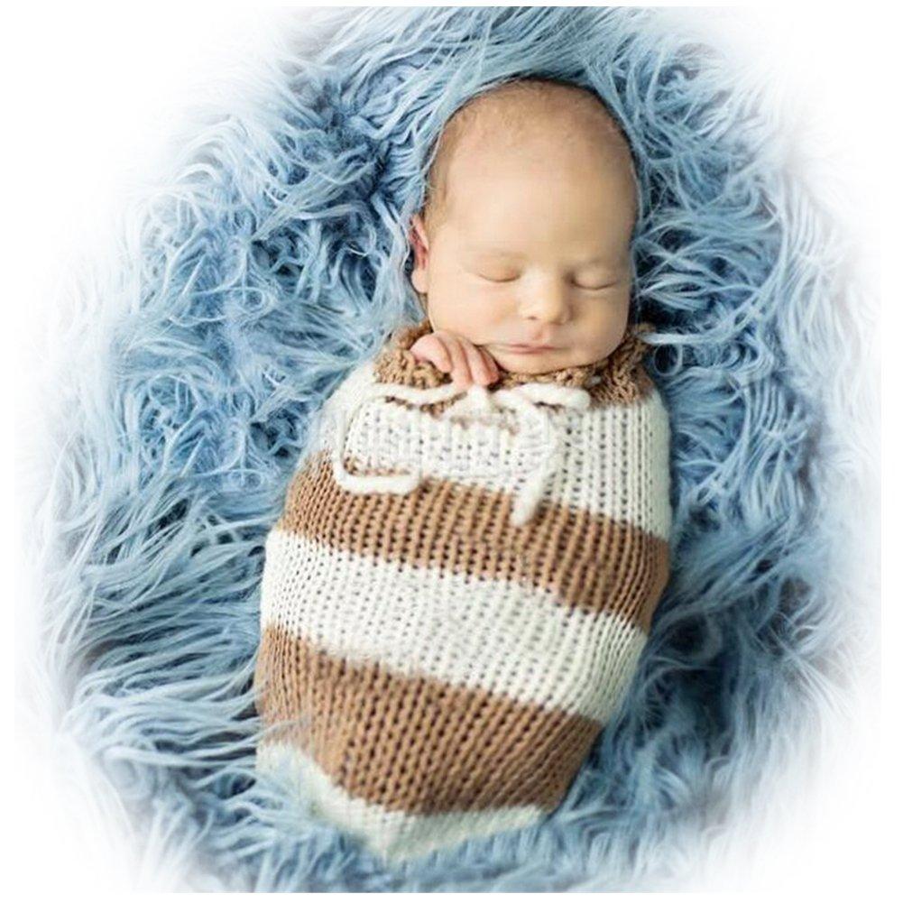 Hecho a mano bebé recién nacido bebé niña niño ganchillo saco de ...
