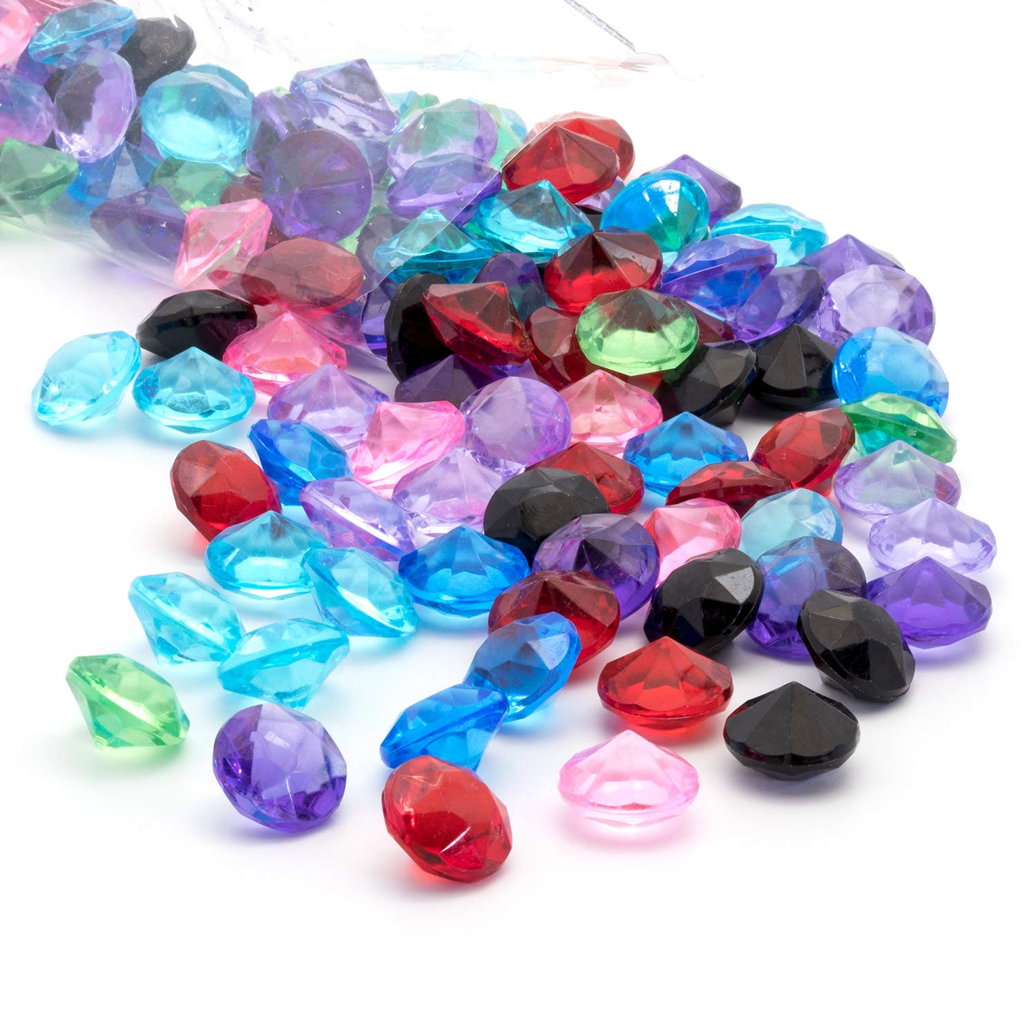 Acrylic Diamonds Gems Crystal Rocks for Vase Fillers, Party Table Scatter, Wedding, Photography, Party Decoration, Crafts by Royal Imports, 3 lbs (Approx 440-460 gems) - Mixed Colors