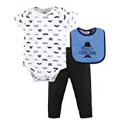 Hudson Baby Baby Multi Clothing Set, Perfect Gentleman 3 Piece, 0-3 Months (3M)