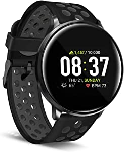 iTouch Sport Smartwatch for Fitness, iPhone and Android Compatible, Pedometer, Walking and Running Tracker for Women and Men