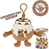 Whiffer Sniffers Howie Rolls Cinnamon Roll Scented Plush Backpack Clip