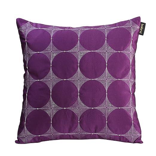Amortiguar Púrpura Seda Bordado Almohada Oficina Cómodo ...