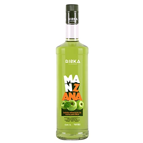 RISKA - Manzana Licor sin alcohol 1 Litro: Amazon.es ...