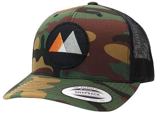 238e783b3 WUE Little Mountains Trucker Hat Outdoor Snapback Hats for Men