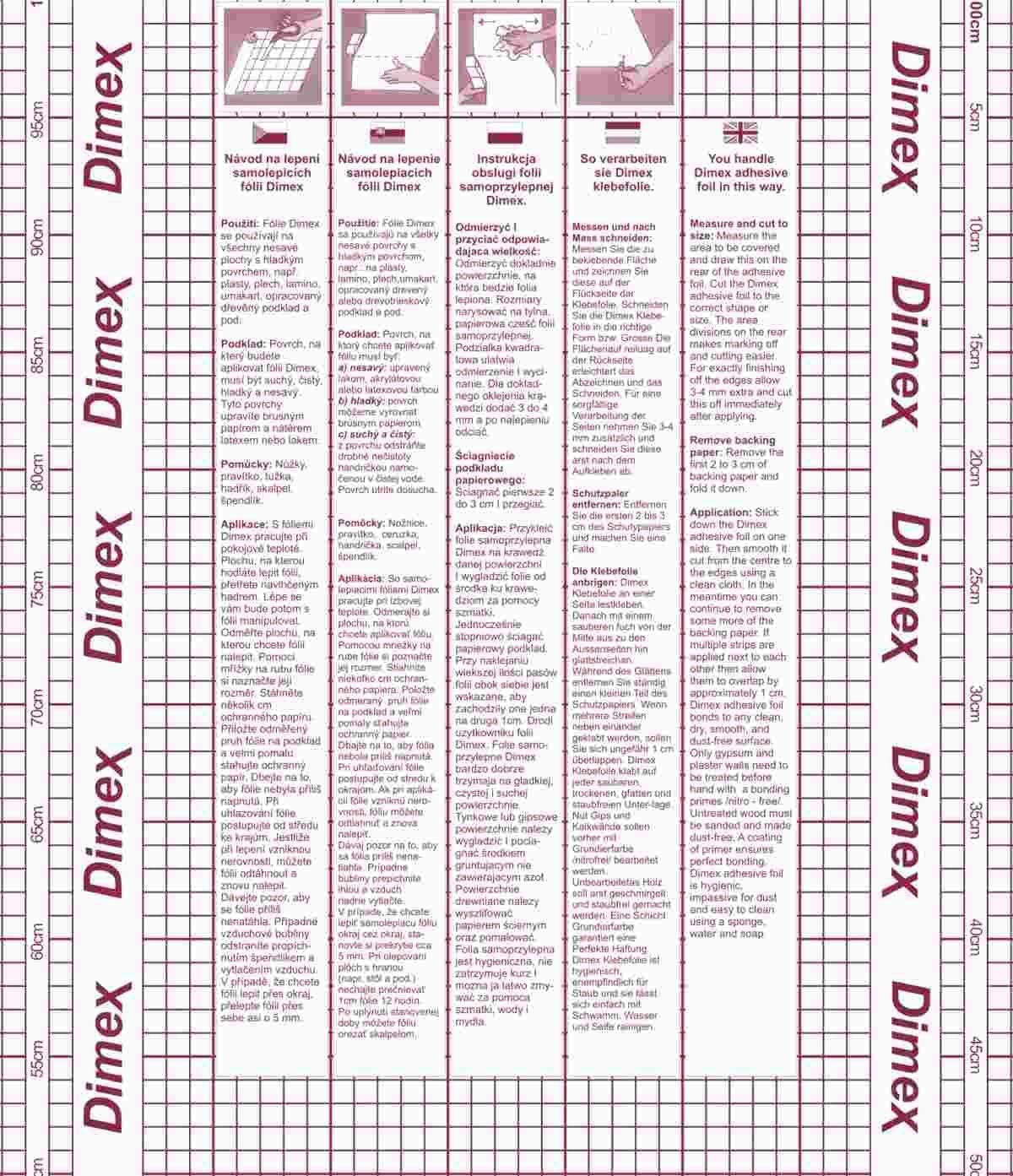 DIMEX LINE Film Autocollant sp/écial pour r/énover de Porte 420 cm x 90 cm WEISSEICHE Orlando 99-6225
