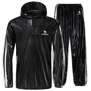 CAMEL CROWN Vêtements de Sudation Sauna Costume Hommes Sweat Suit Sauna  Veste Pantalon pour la Perte 0569e9e7731