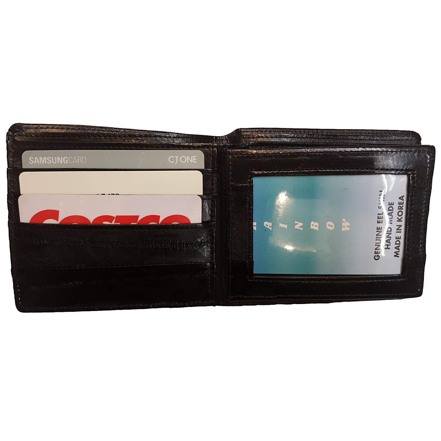 Coin wing half wallet Genuine Eel Skin Leather purse