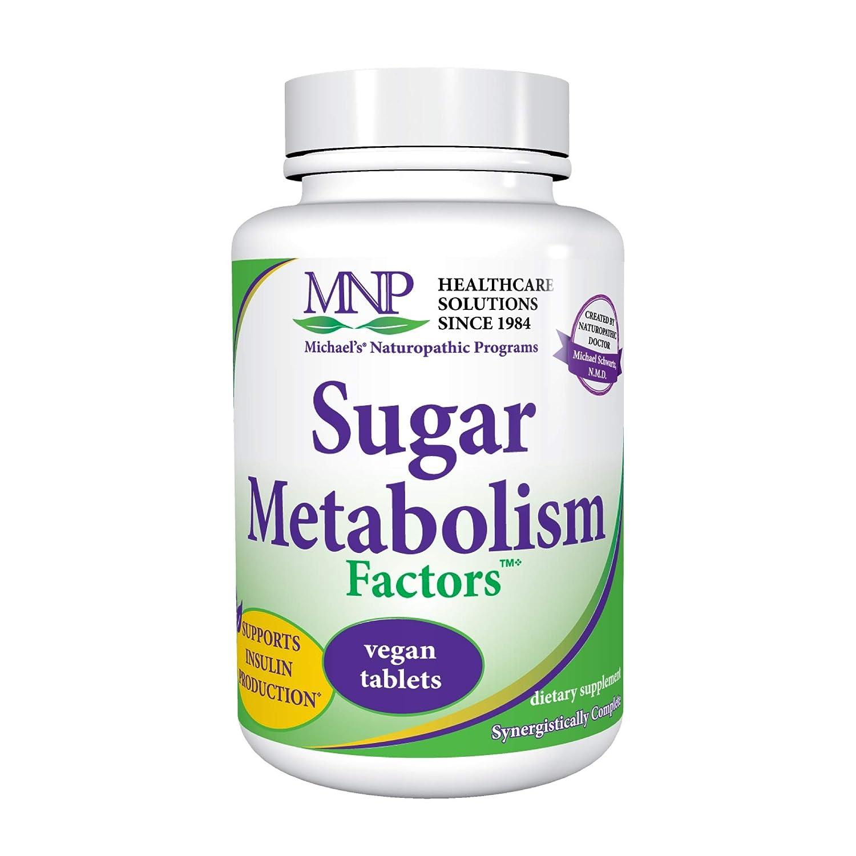 Michael s Naturopathic Programs Sugar Metabolism Factors – 180 Vegan Tablets – Glucose Sugar Metabolism Support, Aids Insulin Production – Vegetarian, Kosher – 30 Servings