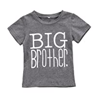 Mrs.Baker'Home Little Brother&Big Brother&Little Sister Print Arrow Pattern Romper& T-Shirt Tee Tops