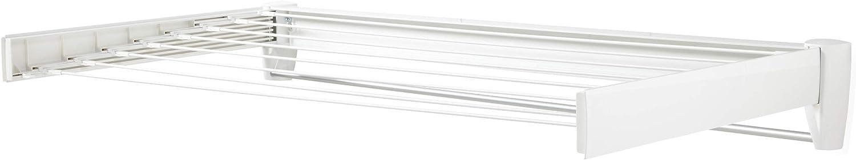 Leifheit Telegant 81 Protect Plus - Tendedero de pared extensible de diseño compacto, plegable, adecuado para baño o balcón