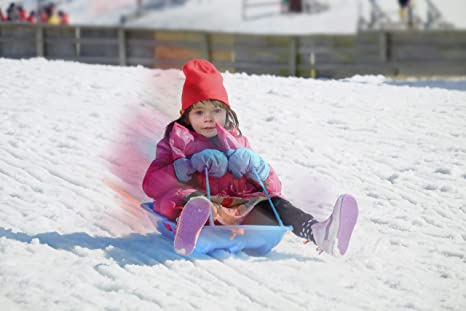 Superio Toboggan Snow Sleds 35 Long 2 Pack Winter Snow Fun for Kids and Adults Toboggan Sled with 2 Handles and a Pull Rope